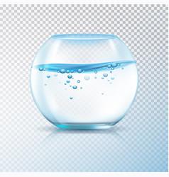fish bowl water bubbles transparent vector image