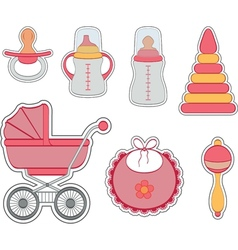 Baby icon girl vector