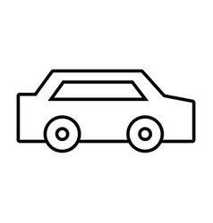 Line normal car to transportation and modern style vector