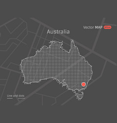 Dotted australia map vector
