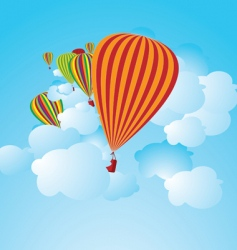 Hot air balloons illustration vector