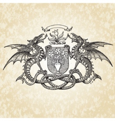 dragons illustration vector image