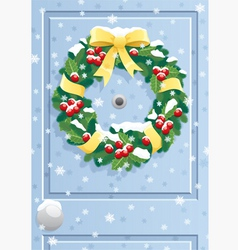Door wreath vector