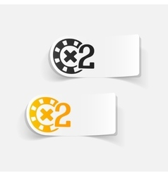 Realistic design element casino chips vector