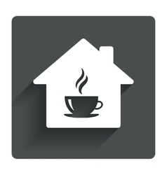 Coffee shop icon hot coffee cup sign vector