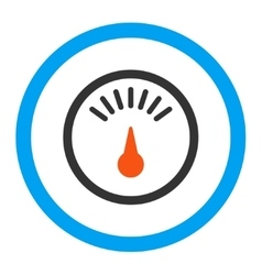 Meter rounded icon vector