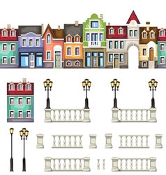 town street vector image