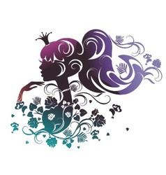 Abstract floral portrait of a beautiful princess vector image
