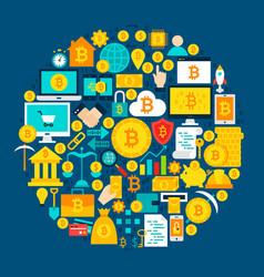 Bitcoin circle concept vector