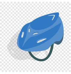 blue bike helmet isometric icon vector image