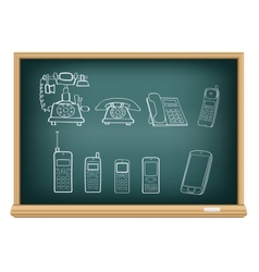 board phone evolution vector image