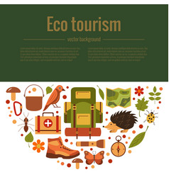 Cartoon eco tourism vector