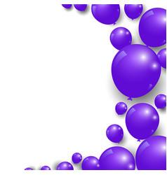 Celebration festive purple balloons background vector
