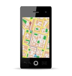 cellphone gps vector image