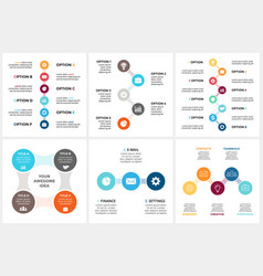 circle metaball timeline infographic cycle vector image vector image