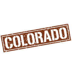Colorado brown square stamp vector