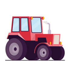 farm tractor flat style vector image vector image