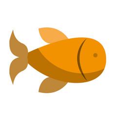 Fish animal isolated icon vector