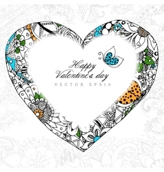greeting card Happy Valentine vector image