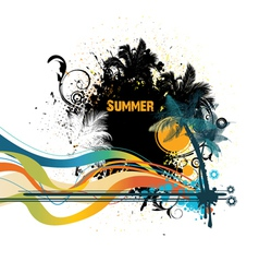 grunge summer vector image vector image