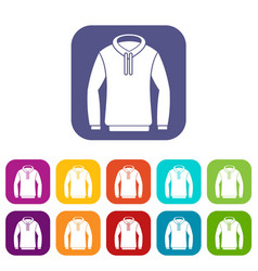 hoody icons set vector image vector image