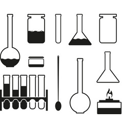 laboratory glass icons vector image