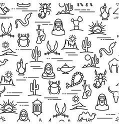 linear desert pattern vector image