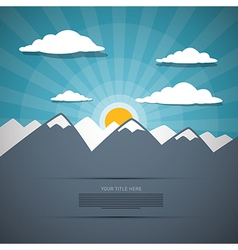 Mountain Abstract Background vector image vector image