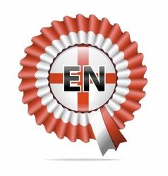 national flag badge EN vector image vector image