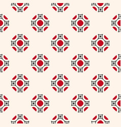 ornamental seamless pattern with floral shapes vector image vector image