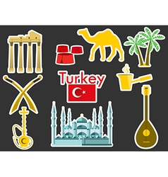 Patches elements turkey vector