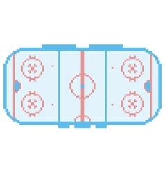 pixel art hockey stadium playground ice court vector image