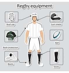 Regby player uniform and equipment vector