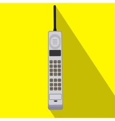 Retro cell phone icon of the vector image