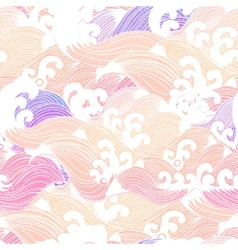 Seamless abstract pattern waves background vector image vector image