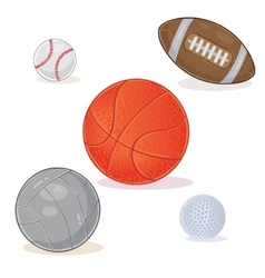 Set of sports balls isolated on white background vector image