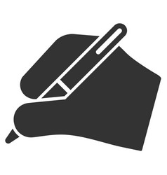 Signature hand flat icon vector