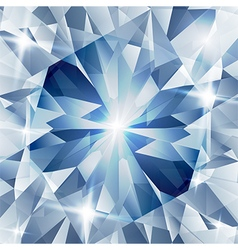Silver and blue with concept diamond vector image vector image