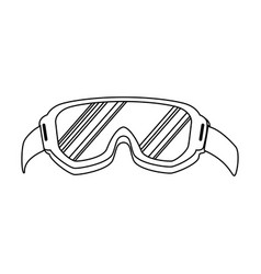 Ski googles isolated icon vector