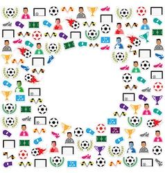 Soccer circle Icons set eps10 vector image vector image