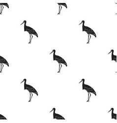 stork icon in black style isolated on white vector image vector image