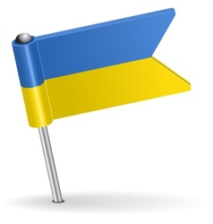 Ukrainian pin icon flag vector