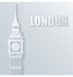 With big ben icon vector