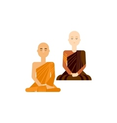 Buddhist men and women vector