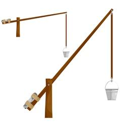 Sump wooden crane eps10 vector image