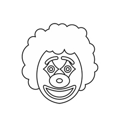 Circus clown icon outline style vector image