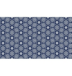 Blue pattern with stars vector