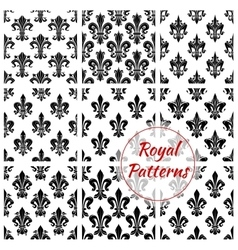 Royal floral seamless patterns set vector