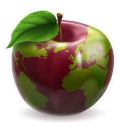 Globe apple concept vector