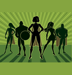 superhero team 3 vector image
